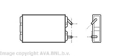 VO6041 Радиатор отопителя VOLVO 940/960 2.0-2.9/2.3T/2.4D 90-98