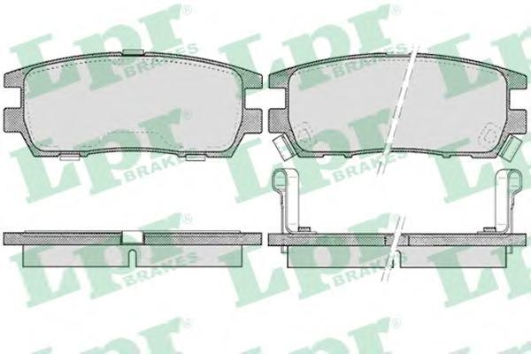 05P518 Колодки тормозные MITSUBISHI PAJERO I/PAJERO II 3.0/3.5/2.5TD/L400 9403 задние