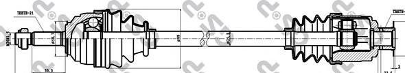 250022 Привод в сборе RENAULT CLIO I 1.4-1.9D 91-98 прав.