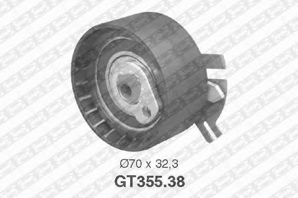 GT35538 Деталь GT355.38_pолик натяжной pемня ГPМ