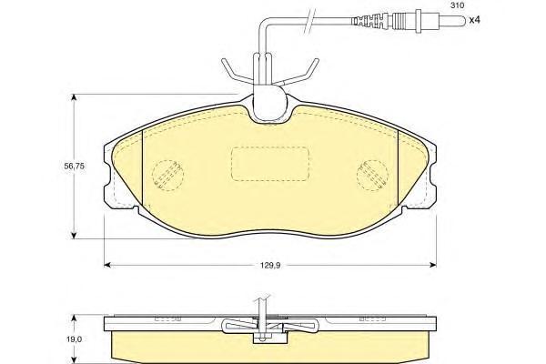 6111941 Колодки тормозные CITROEN XSARA/PEUGEOT 406/607 передние
