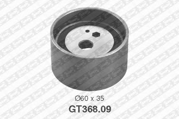 GT36809 Деталь GT368.09_pолик натяжной pемня ГPМ