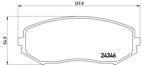 P79018 Колодки тормозные SUZUKI GRAND VITARA 1.9D/1.6/2.0/2.4/2.7/3.2 05 передние