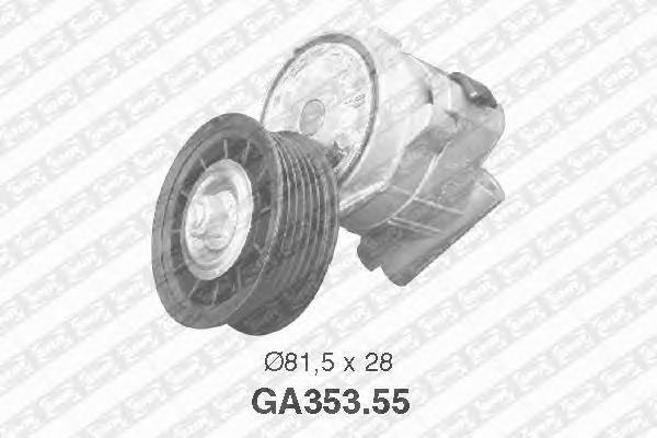 GA35355 Ролик натяжной поликлинового ремня VAUXHAL: Sintra, Calibra, Omega, Signum, Vectra - OPEL: Signum, Calibra, Frontera, Ve