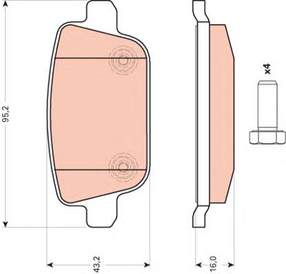 GDB1709 Колодки тормозные FORD GALAXY/MONDEO/S-MAX/VOLVO S80/XC70/FREELANDER 06- задние
