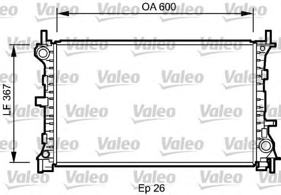 735046 Радиатор FORD FOCUS 1.6/2.0 98-04