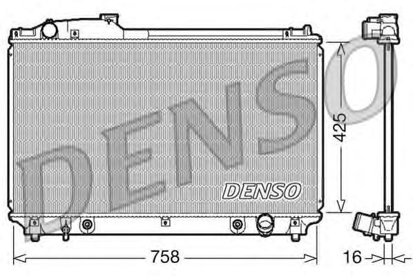drm51003 Радиатор, охлаждение двигателя