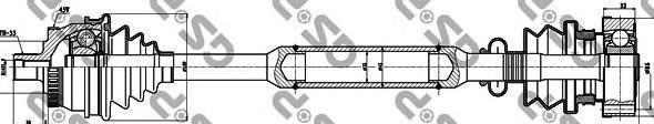 299111 Привод в сборе AUDI A4 I-II/VW PASSAT V 1.6-2.0 94-05 прав. +ABS
