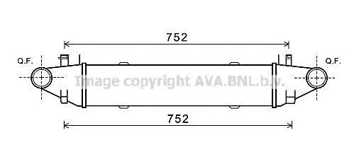 msa4596 Интеркулер MB: C-CLASS (W204) C 200 CGI (204.048)/C 200 KOMPRESSOR (204.041) 07-, C-CLASS T-MODEL (S204) C 200 CGI (204.