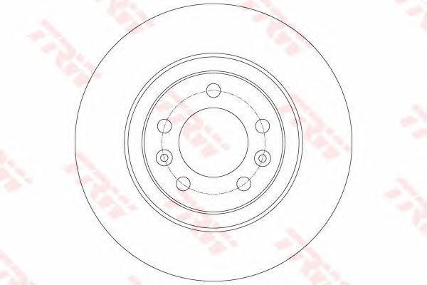 DF6134 Диск тормозной PEUGEOT: 508 1.6 HDi/1.6 THP/1.6 VTi/2.0 HDi 10-, 508 SW 1.6 HDi/1.6 THP/1.6 VTi/2.0 HDi 10-