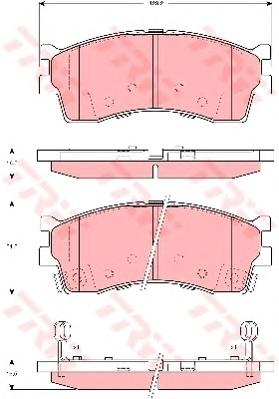 GDB3285 Колодки тормозные KIA CLARUS 96-/RIO/SHUMA 00-/SPECTRA (ИЖ) передние