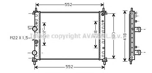 FTA2182 Радиатор системы охлаждения FIAT: BRAVA (182) 1.6 16V (182.BB)/1.6 16V (182.BH) 95 - 01 , BRAVO (182) 1.6 16V (182.AB)/1