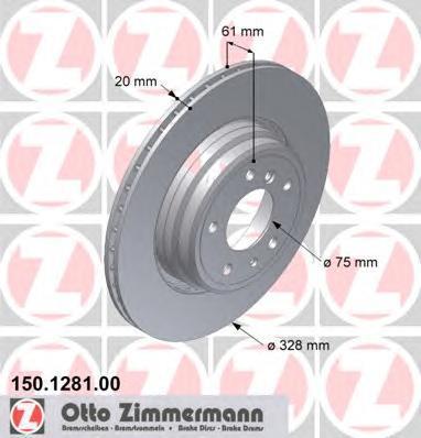 150128100 Диск тормозной зад вент BMW 7 III (E38)8 (E31)