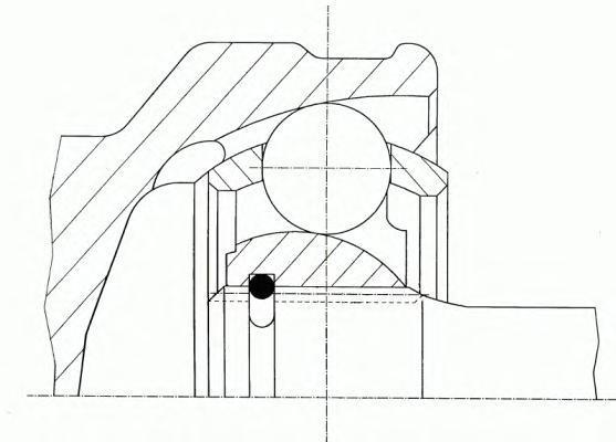 304308 ШРУС наружн к-кт HONDA: CR-V II 2.0 02-06
