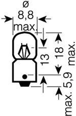 3797 Лампа T2W 24V-2W (BA9s) ORIGINAL LINE