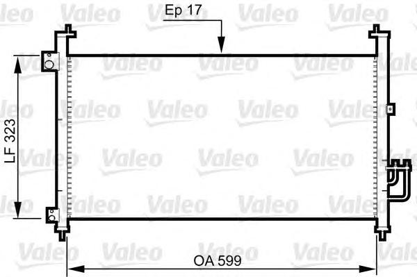 814333 Радиатор кондиционера HONDA: CIVIC VII 1.3 / 1.4 / 1.6 / 1.8 / 2.0 / 2.2 / TYPE R