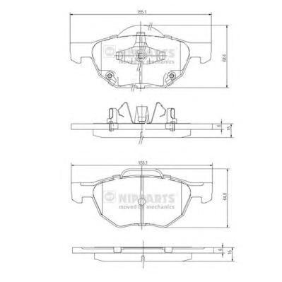 J3604064 Колодки тормозные HONDA ACCORD 2.0/2.2/2.4 03 передние