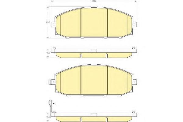 6133619 Колодки тормозные NISSAN PATROL 2.8D-4.2D 97-10 передние