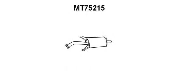 mt75215 ГЛУШ.ЗАД.Ч.CARISMA1.6/8/916VTDIB/H03/95-02/99