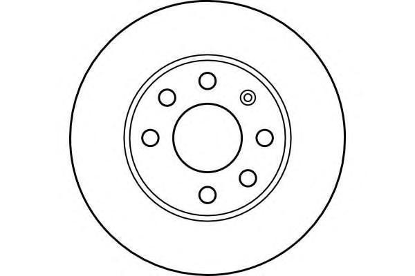 6042361 Диск тормозной OPEL CORSA C 1.0-1.7 00- передний