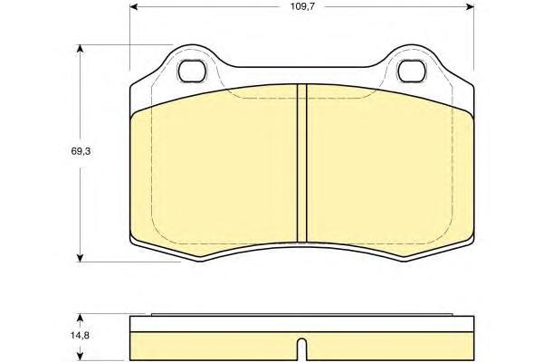 6115139 Колодки тормозные CITROEN DS3/JAGUAR перед./VOLVO S60/V70 задние