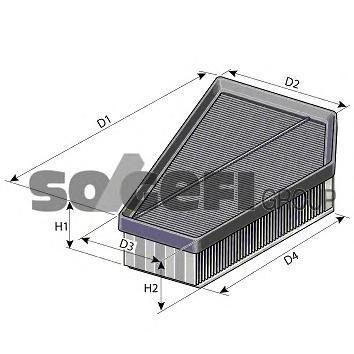 A1400 Фильтр воздушный VOLVO: C30 D5 06-, C70 кабрио D5 06-, S40 II 2.4 D5 04-