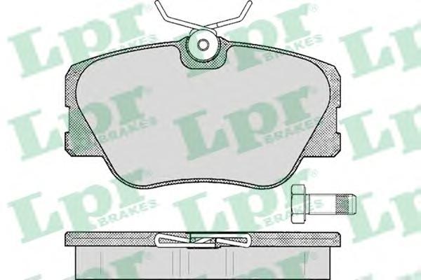 05P280 Колодки тормозные MERCEDES BENZ W201/W124 без датчика передние