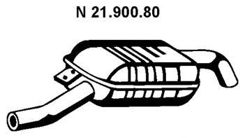 2190080 Глушитель E38 735/740i/iL