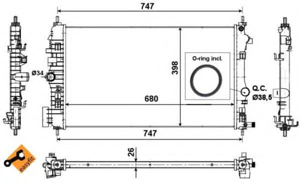 53776 Радиатор OP Insignia 2.0CDTI