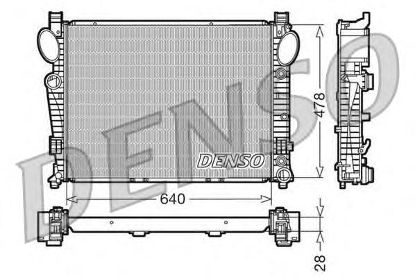 DRM17093 Радиатор системы охлаждения MERCEDES-BENZ: S-CLASS (W220) S 280 (220.063, 220.163)/S 320 (220.065, 220.165)/S 350 (220.