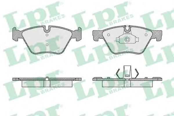 05P1641 Колодки тормозные BMW 5 F10/F11 2.0-3.0 10- передние