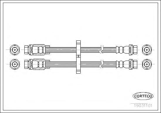 19031101 Шланг тормозной FI Doblo 435мм