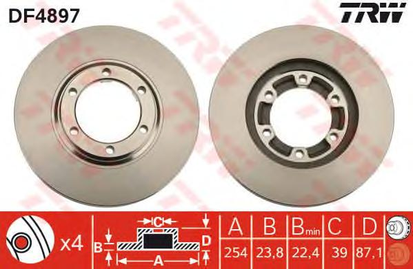 DF4897 Диск тормозной передн MITSUBISHI: L 200  96 -
