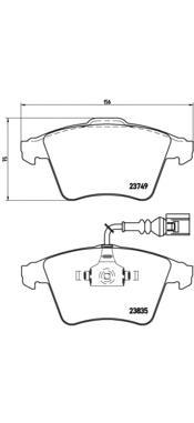 P85090 Колодки тормозные VOLKSWAGEN TOUAREG R16 03 передние