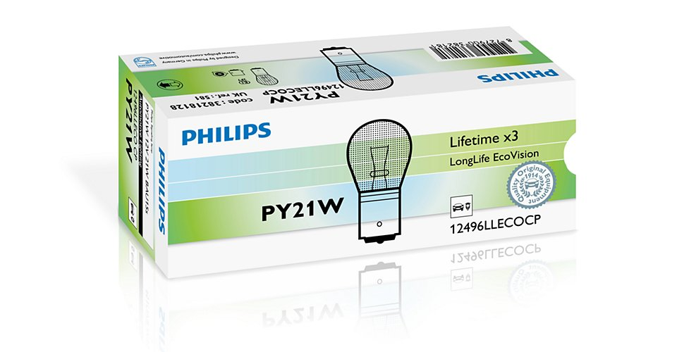 12496LLECOCP Лампа PY21W Long Life ECO 12V CP