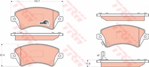GDB3288 Колодки тормозные TOYOTA COROLLA (E12) 1.4/1.6/1.8/2.0 0002/02 передние