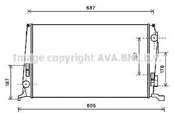 daa2005 Радиатор RENAULT DUSTER 1.5TD 10-