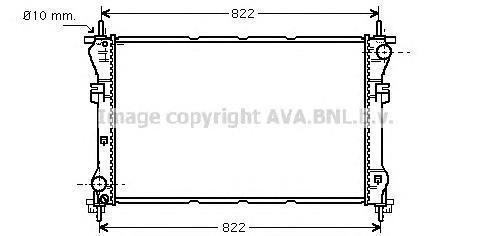 FD2318 Радиатор системы охлаждения FORD: TRANSIT c бортовой платформой/ходовая часть (FM_ _, FN_ _) 2.3 16V (F_A_, F_B_, F_C_, F