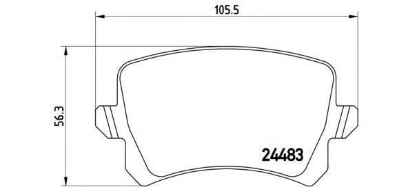 P85109 Колодки тормозные VW PASSAT/SHARAN 10-/TIGUAN 07-/SEAT ALHAMBRA 10- задние