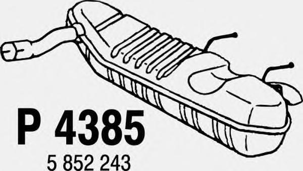 P4385 Глушитель OPEL VECTRA С 1.8 03-