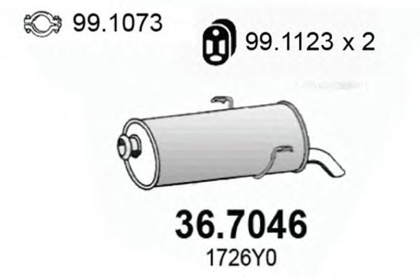 367046 Глушитель 206 (задн часть) TU3JP