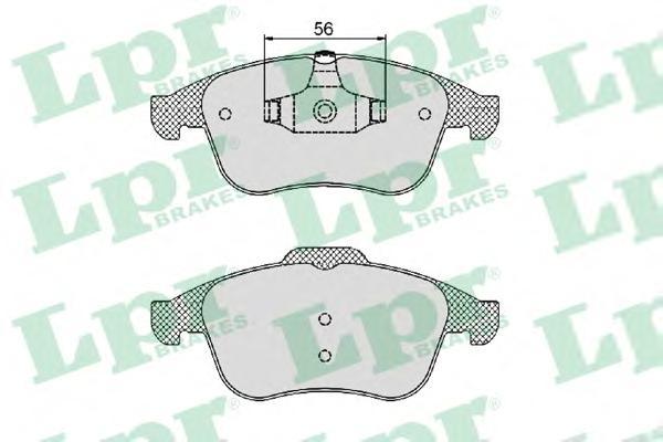 05P1466 Колодки тормозные RENAULT LAGUNA III 2.0-3.5 07- передние