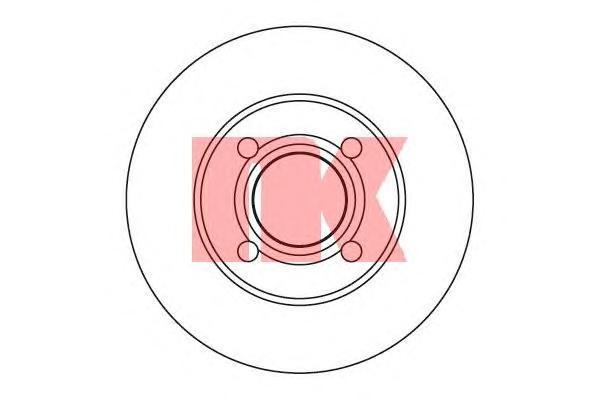 204738 Диск тормозной передний / AUDI-80 B-4 1.6-2.3 (22.0-256) 91-95