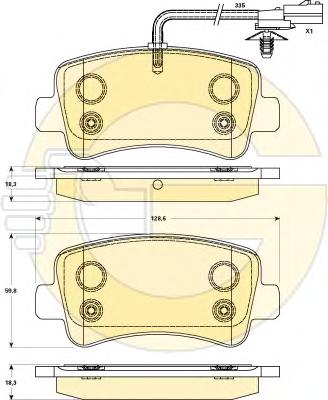 6119031 Колодки тормозные OPEL MOVANO/RENAULT MASTER 10- (для одинарных шин) задние