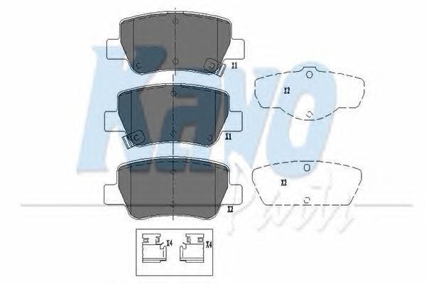 KBP9107 Колодки тормозные TOYOTA AVENSIS 09- задние