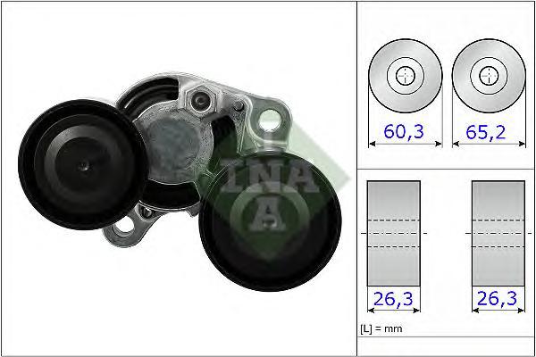 534048210 Натяжитель ремня приводного BMW F20/E90/F30/F10/F01/F25 1.6D-3.0D