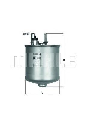 KL639D Фильтр топливный RENAULT KANGOO/LAGUNA 1.5D/2.0D 07-