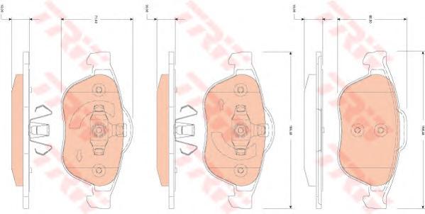 GDB1823 Колодки тормозные RENAULT LAGUNA 01-/SCENIC 03- передние