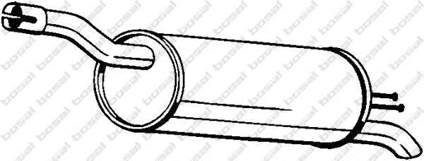 148343 Глушитель FIAT DOBLO 1.6/1.9D 00-05