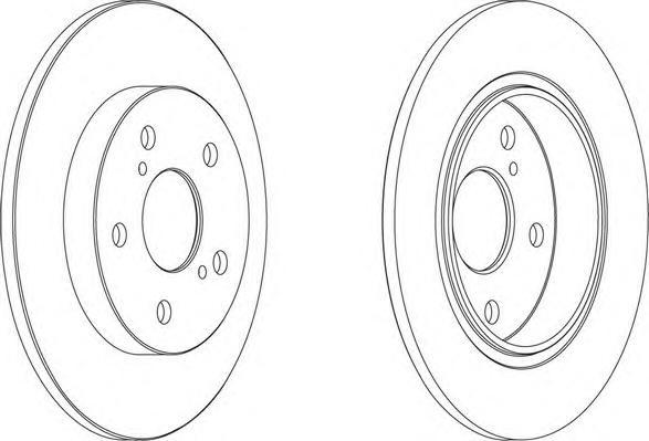 DDF1645 Диск тормозной TOYOTA AURIS 07- (пр-во Великобритания) задний D=270мм.